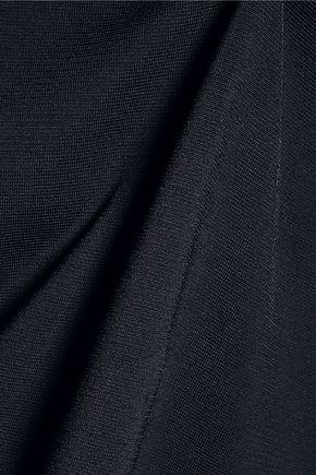 DION LEE Open-back stretch-knit turtleneck top