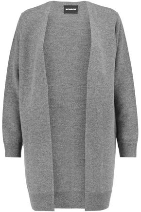 MONROW Merino wool and cashmere-blend cardigan