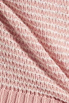 J BRAND Garey striped knitted cotton-blend tank