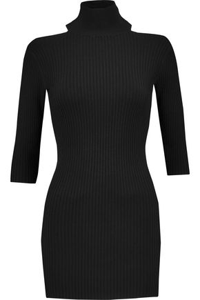 BY MALENE BIRGER Onia cold-shoulder turtleneck ribbed-knit sweater