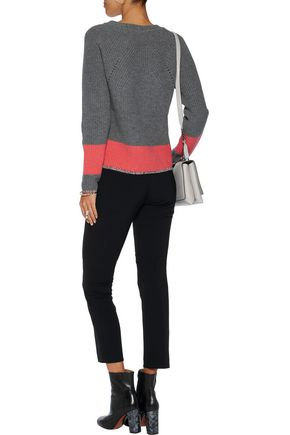 DUFFY Ribbed wool and cashmere-blend sweater