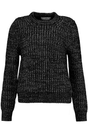 PRINGLE OF SCOTLAND Two-tone merino wool, silk and cashmere-blend sweater