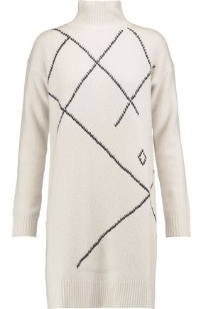 PRINGLE OF SCOTLAND Merino wool and cashmere-blend dress
