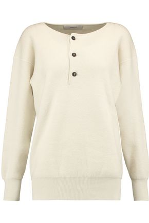 PRINGLE OF SCOTLAND Henley cashmere, wool and silk-blend sweater