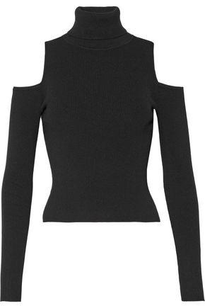 A.L.C. Mervyn cold-shoulder ribbed-knit turtleneck sweater