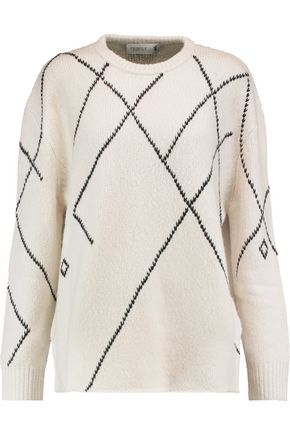 PRINGLE OF SCOTLAND Merino wool and cashmere-blend sweater