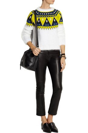 AIMO RICHLY Fair Isle angora and wool-blend sweater