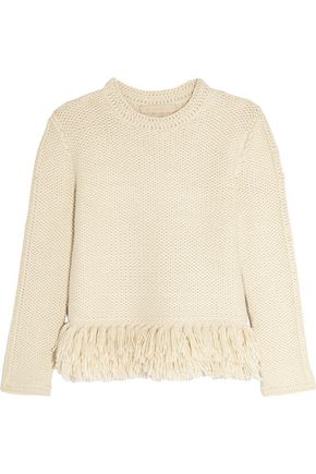 VANESSA BRUNO Fluidity tasseled waffle-knit alpaca sweater