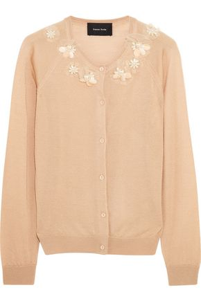 SIMONE ROCHA Embellished merino wool, cashmere and silk-blend cardigan