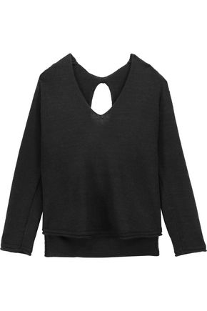 SOYER Paloma cutout ribbed wool-blend sweater