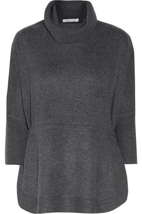 DUFFY Gathered cashmere turtleneck sweater