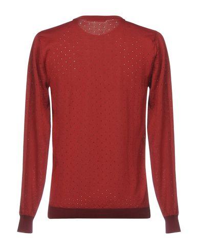Фото 2 - Мужской свитер  красно-коричневого цвета