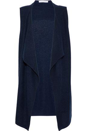 DUFFY Draped pointelle-knit cashmere vest