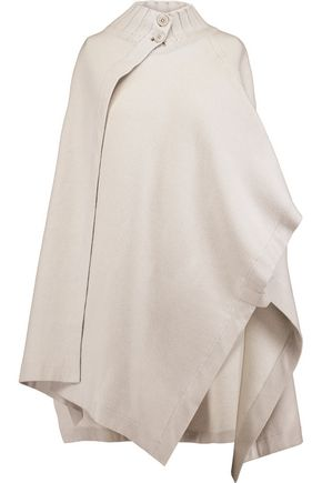 THEORY Palomina reversible wool-blend poncho