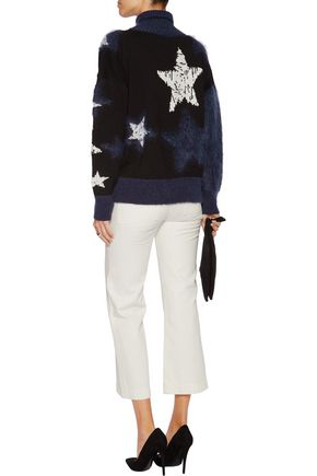 JUST CAVALLI Intarsia-knit wool-blend turtleneck sweater