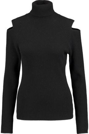 THEORY Jemliss cutout ribbed wool-blend sweater