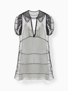 Mini robe transparente doublée