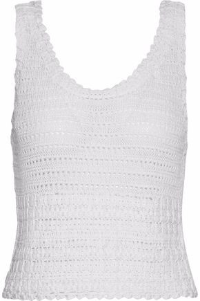 ALICE+OLIVIA Crochet and pointelle-knit top