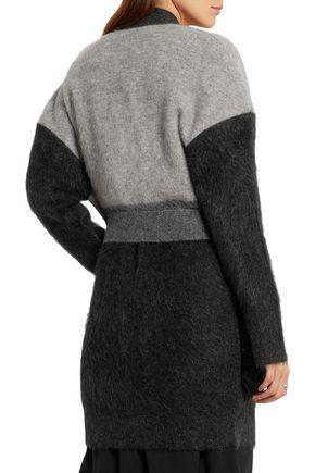 BOTTEGA VENETA Shearling-paneled mohair-blend cardigan