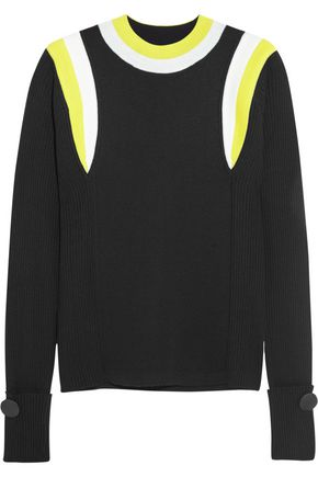 MARNI Ribbed color-block wool sweater