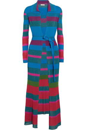 ETRO Striped ribbed-knit cardigan