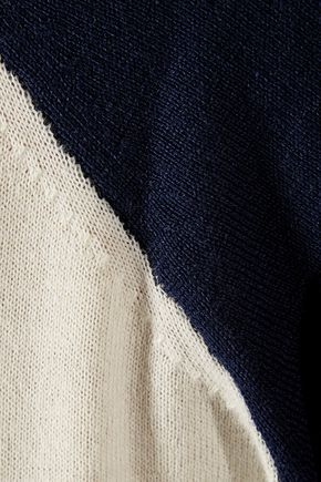 SEE BY CHLOÉ Two-tone wool and cotton-blend sweater