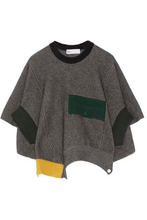 TOGA Ribbed wool poncho