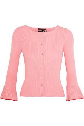 BOUTIQUE MOSCHINO Ribbed cotton cardigan