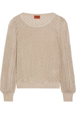 MISSONI Metallic knitted top