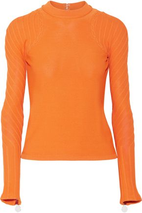 CARVEN Open-back stretch-knit sweater