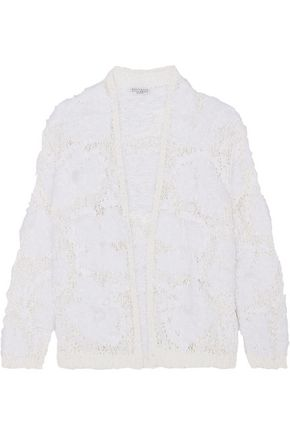 BRUNELLO CUCINELLI Open-knit cardigan