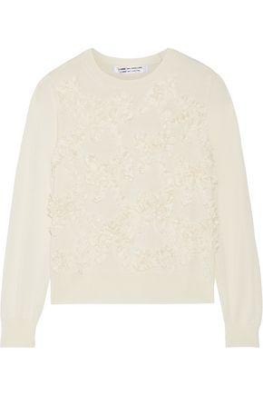 COMME DES GARÇONS COMME DES GARÇONS Bow-appliquéd wool sweater
