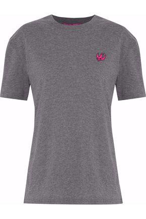 VALENTINO Appliquéd mélange cotton-jersey T-shirt
