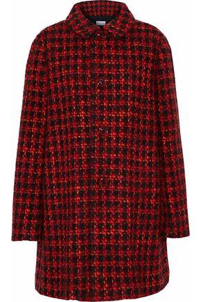REDValentino Gathered  houndstooth tweed coat