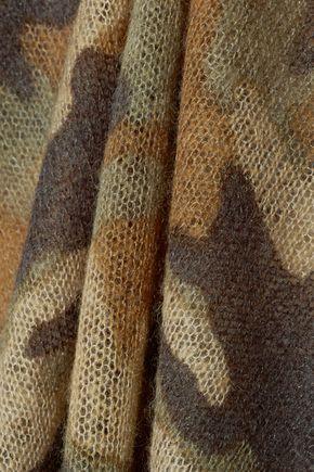 MICHAEL MICHAEL KORS Camouflage-print crochet-knit sweater
