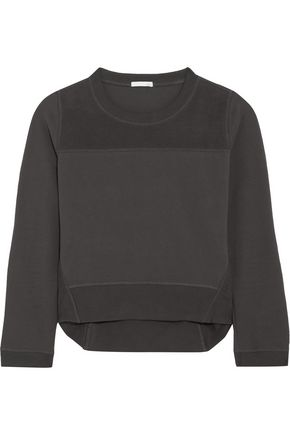 SKIN Paneled cotton-blend sweater