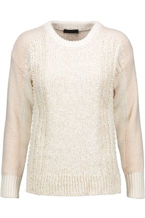 BELSTAFF Cotton-blend bouclé sweater