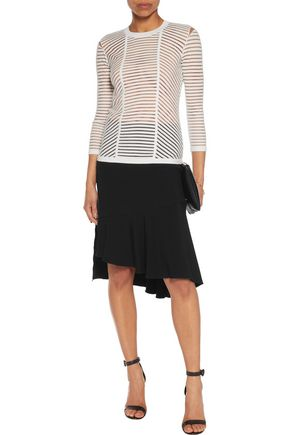 BAILEY 44 Reservoir mesh and stretch-knit sweater