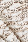 MAJE Metallic jacquard-knit sweater