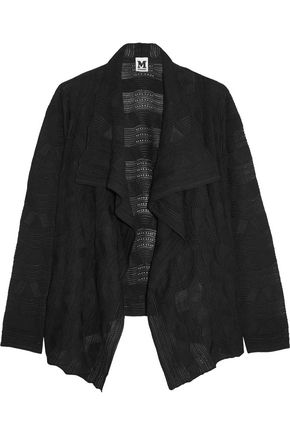 M MISSONI Draped crochet-knit wool-blend cardigan