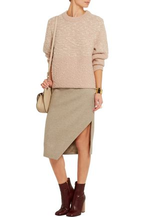 SEE BY CHLOÉ Metallic-flecked wool-blend bouclé sweater