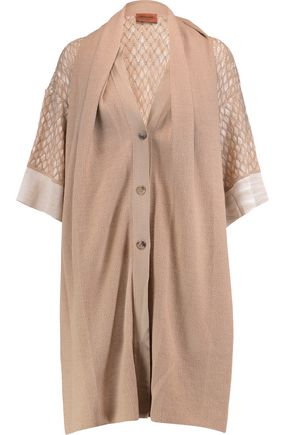 MISSONI Cape-effect wool-blend cardigan