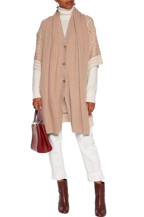 MISSONI Cape-effect wool-blend cardigan