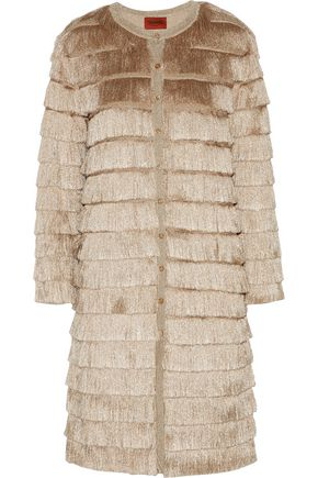MISSONI Fringed stretch-knit cardigan