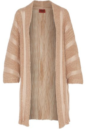 MISSONI Metallic bouclé and ribbed-knit cardigan