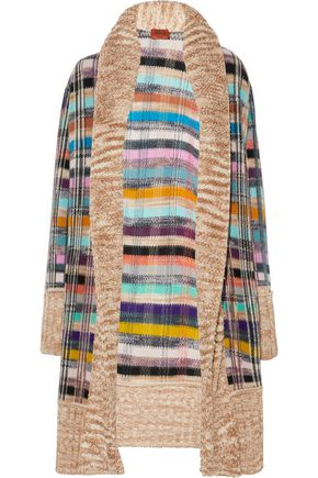 MISSONI Bouclé-paneled crochet-knit wool-blend cardigan