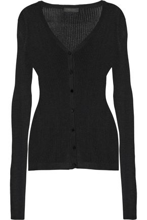 CALVIN KLEIN COLLECTION Anabelle ribbed-knit cardigan