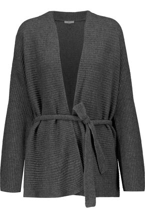 JOIE Roshni belted wool and cashmere-blend cardigan