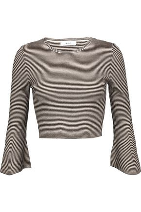 A.L.C. Shiloh cropped striped wool-blend top