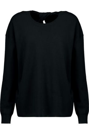 THEORY Split-back merino wool sweater